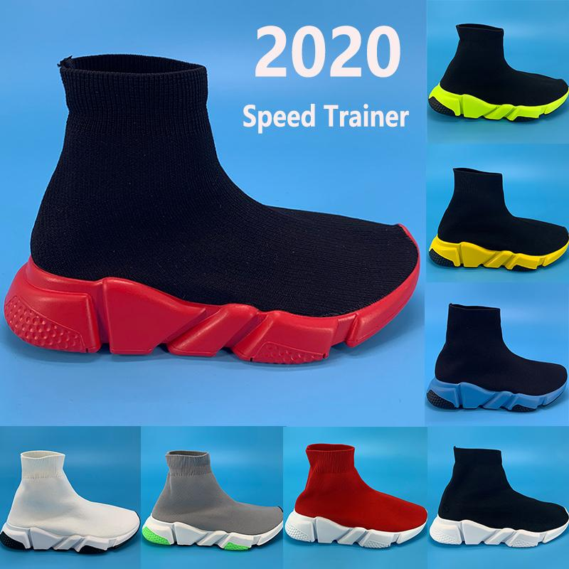 New Paris Speed Trainer Runner casual sock shoes black university red green beige oreo triple red white Platform men women Sneakers boots
