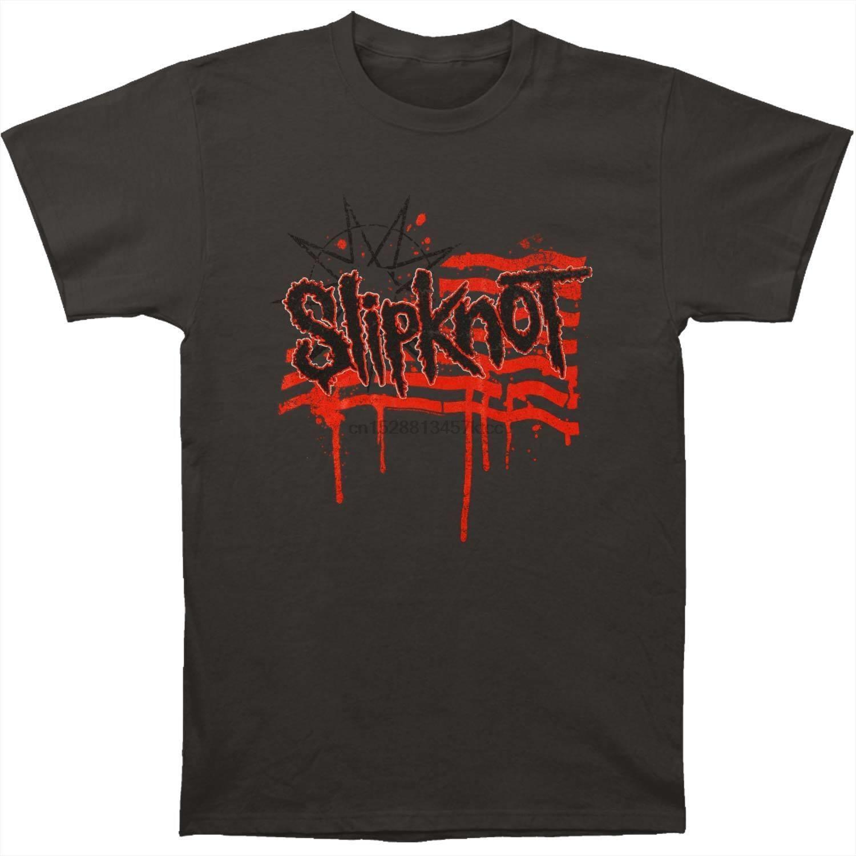 Slipknot dos homens da bandeira Verão 2015 t-shirt da excursão XX-Large GreyShort luva Masculino
