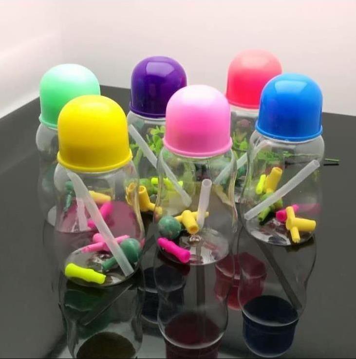 neues Europa und Americaglass Rohrsprudelwasserpfeife Glas bong Farbe Acryl-Milchflasche und Wasserflasche