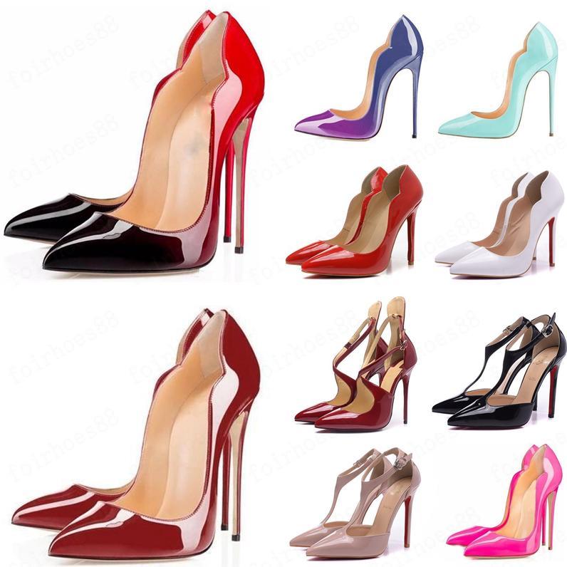 Mode Femmes Pompes Femmes Red Bottom Chaussures Marque Talons Stilettos Pumps Chaussures Femmes Sexy Party Chaussures de mariage Femme Hauts talons