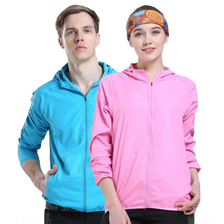 Gedruckt für Kleidung Windjacke Sonnenschutz Kleidung Männer und Frauen Hautmantel dünn Sport Sommer im Freien Sonnenschutz Mantel Windjacke