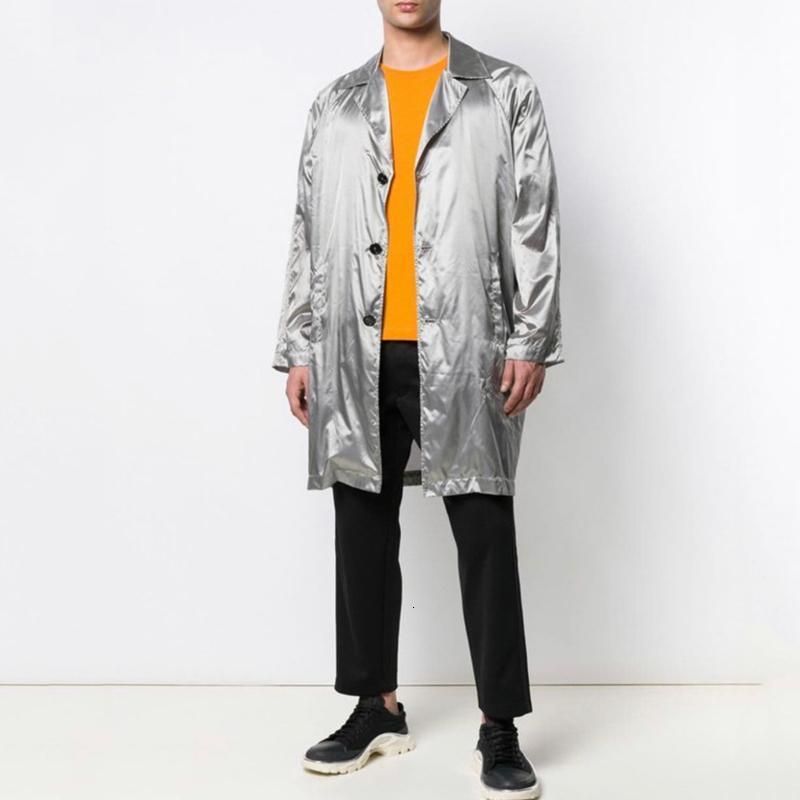 19FW RAF SIMONS Jacken gefälschte zweiteilige Windjacke Punk Coats Straße Hip Hop Outwear beiläufige Art und Weise lose Street HFYMJK250