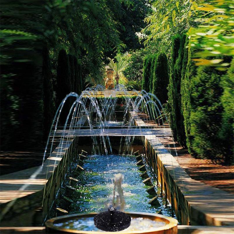 Solar Power Pump Птица ванны Фонтан Плавающий пруд Сад Патио Декор Малый круговой солнечный фонтан воды насос черный A30514