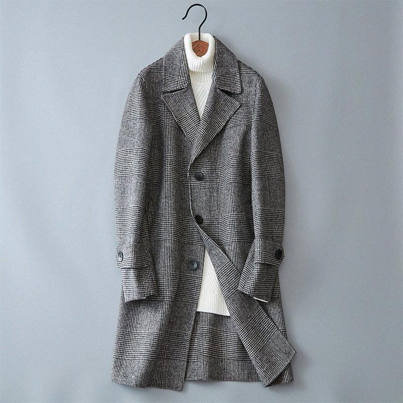 2017 Winter new style Men's fashion thicken trench coat jacket Men's casual windbreaker woolen coats men overcoat RqHP#