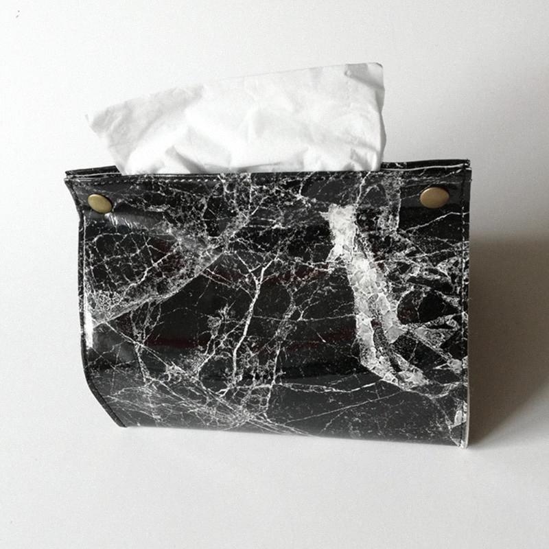 Ufficio del tessuto scatola in pelle stile nordico Dispenser Fashion PU bagagli Holder cucina in marmo decorazioni di carta Contenitore auto modello pJdf #