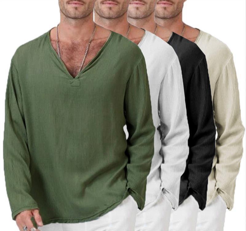 UK Summer Men Baggy T Shirt Cotton Linen Tee Hippie Shirts Short Sleeve Yoga Top