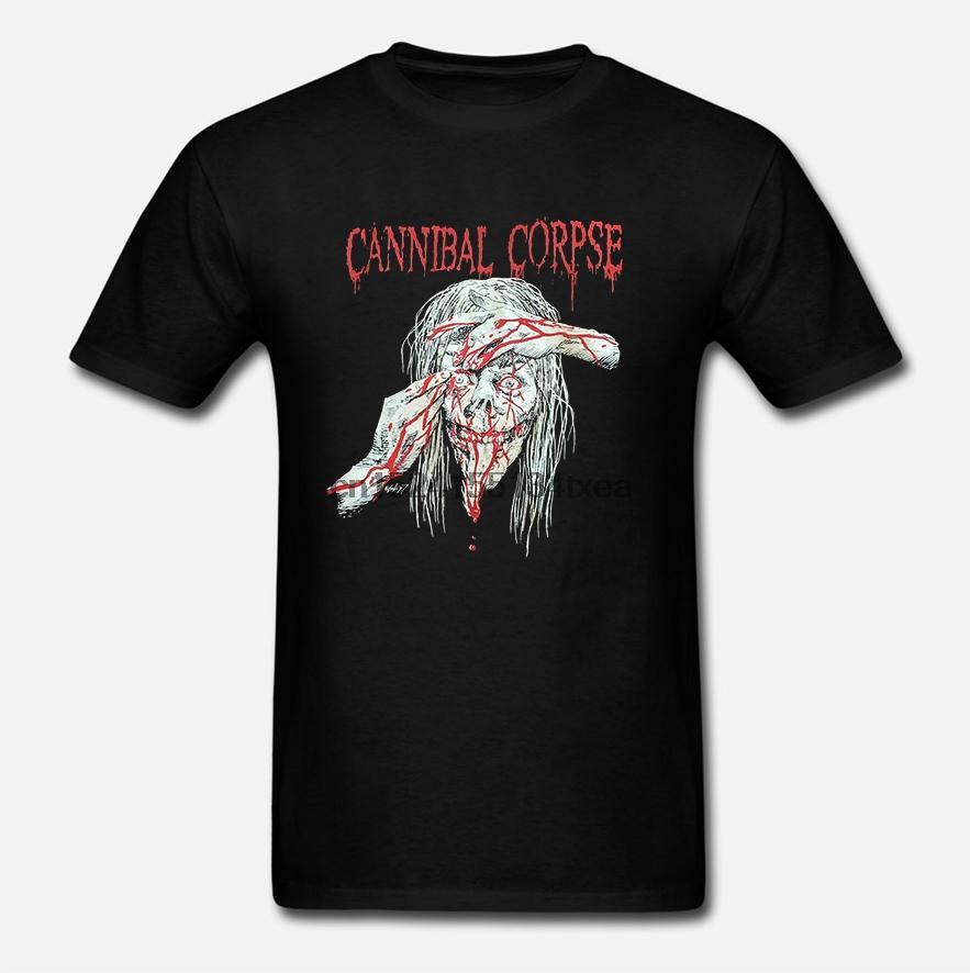 Cannibal Corpse Biçimsiz ÖLÜM METAL GÖMLEK BOYUTU yeni baskı zz 2019 Yeni Moda Erkekler Tişörtler Kısa Kollu