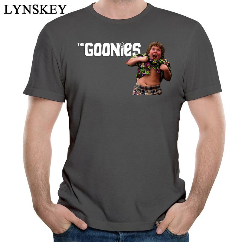 Das Goonies T-Shirt Männer-Brief Druck Marke Baumwolle übersteigt kurze Hülse O-Kragen Design Männlichen Regular Sommer Tees Lustige Charakter