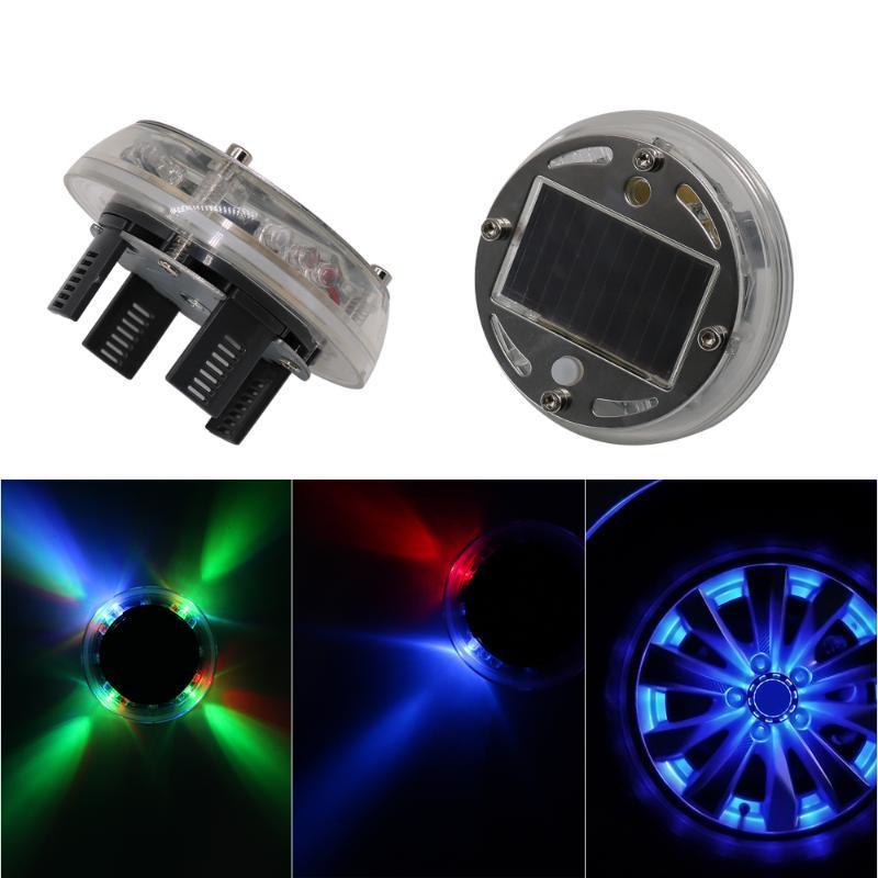 LED Umgebungslicht Solarenergie Auto-Blitz-LED-Auto-Rad-Licht-Hub-Birne-Reifen-Reifenventil-Kappe-Lampe