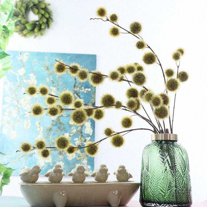 Künstliche Blume Kugel lange Niederlassung für Haupt Weihnachten Hochzeitsdekoration Kunststoff gefälschte Pflanzen Kranz fleur artificielle u9M2 #