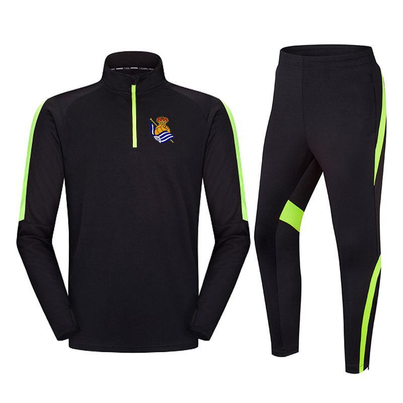 Real Sociedad 2020 новой куртка футбол спортивного костюма длинный отрезок может быть настроен DIY мужских видов спорта, работающих одеждами спортивного костюма