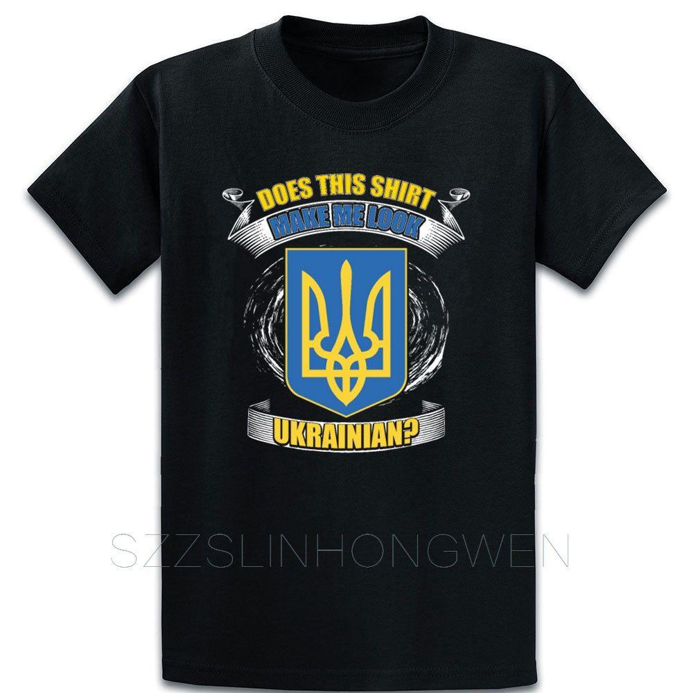 Ucrania camiseta de la vendimia de cuello redondo de algodón del equipo divertido informal Crear camisa de regalo del estilo del verano