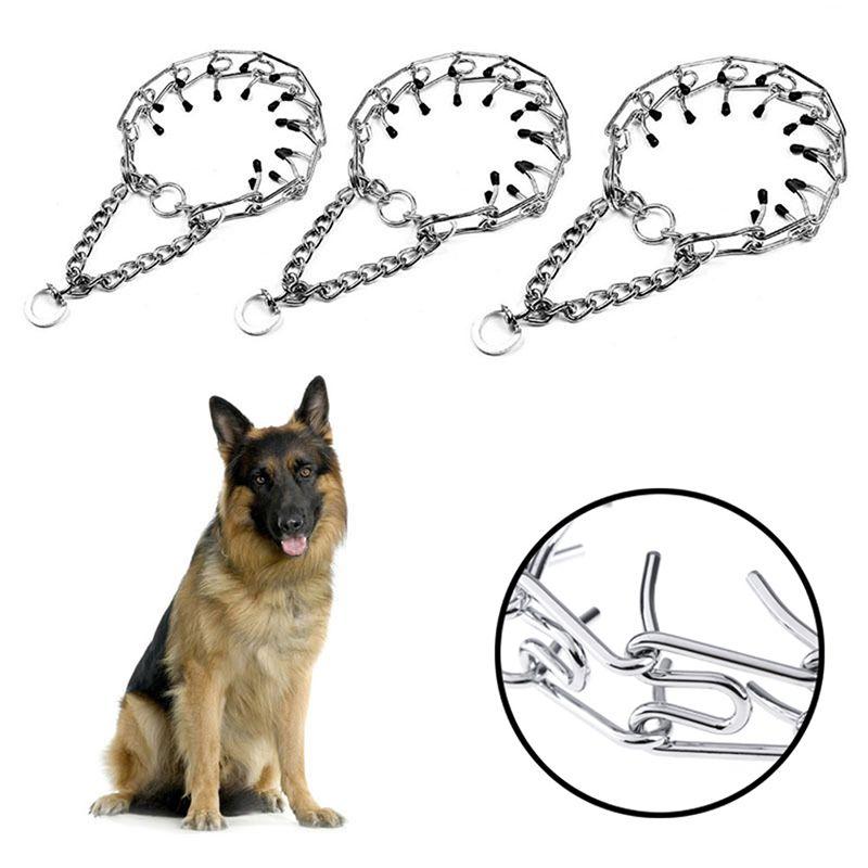 Pet Dog Training del collare della catena Prong Girocollo Collari Pet metallo del ferro Soffocare collo guinzaglio a piedi forniture strumento di formazione
