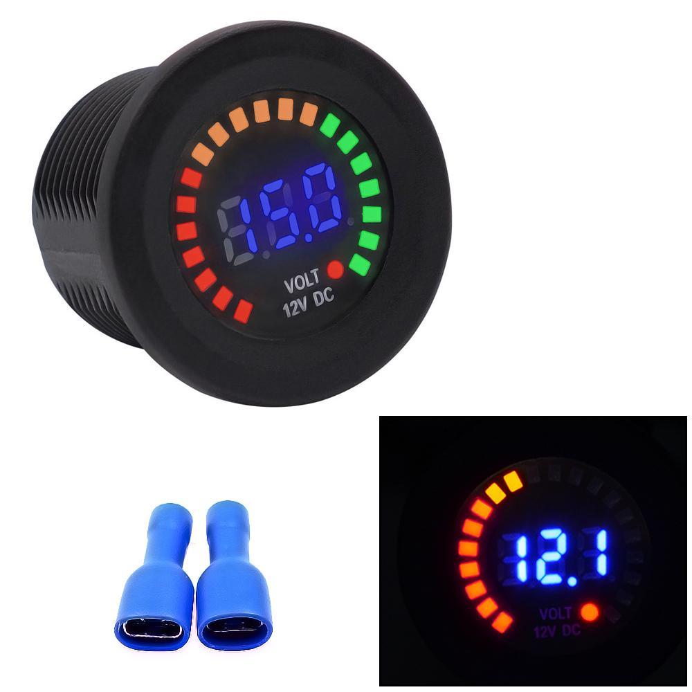 Modified Voltmeter DC 12V LED Digital Voltage Meter 37mm For Car Motorcycle Bus