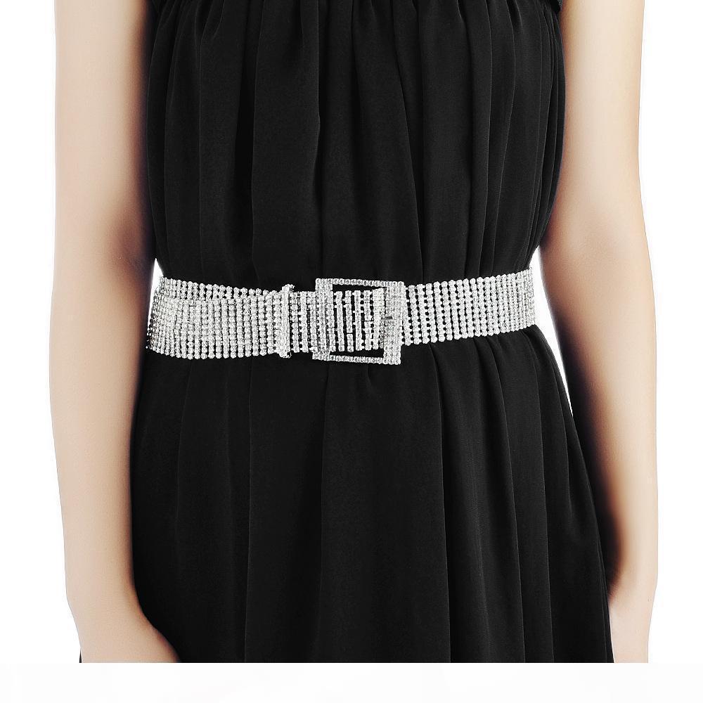 Cinghie designer Womens fascini di lusso catena cintura fuori ghiacciato cinghia di modo Dichiarazione strass Style Designer Grils di Hip Hop di gioielli da sposa