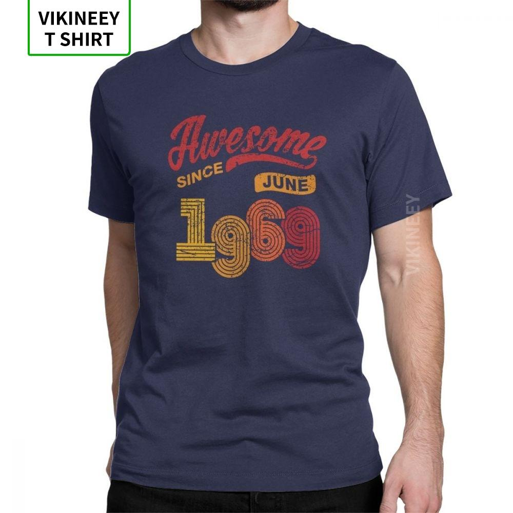 Awesome Since Juni 1969 Shirt Vintage 49th Birthday Awesome T-Shirt Mann mit kurzen Ärmeln Kleidung Größe Tees T-Shirts