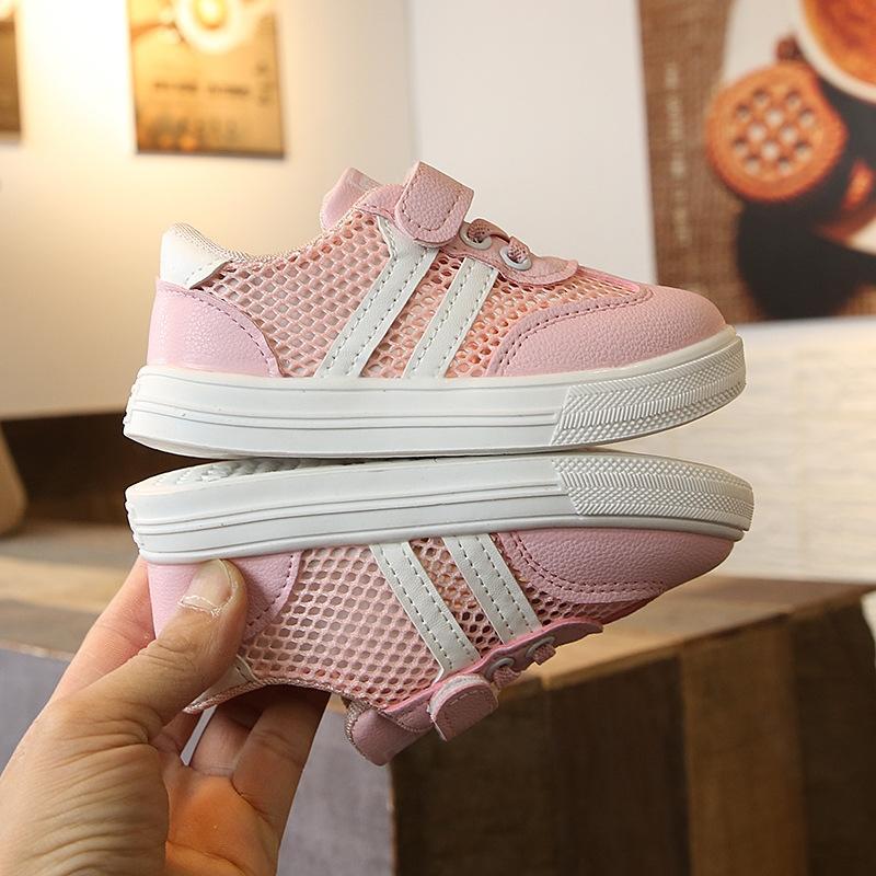 2020 New Spring scarpe bianche nette di sport delle ragazze scarpe da ginnastica per bambini scarpe da ginnastica dei ragazzi e sport il bambino dei scarpe di moda
