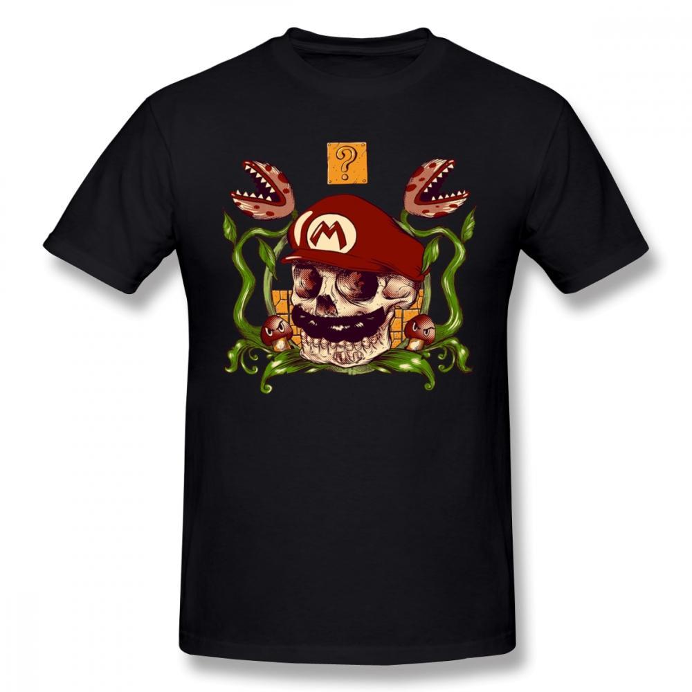 Mario Tişörtlü Mario Tişört Kısa Kollu Streetwear Tee Shirt Büyük% 100 Pamuk Müthiş Grafik Erkek Tişörtü