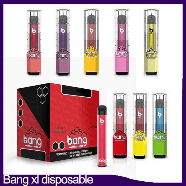 Bang XL XTRA Dispositif jetable POD POD Pré-rempli de 2 ml de cartouche 450mAh Batterie 600 Puff Vape Vape stylo vide VS Posh Plus Bar Flow DHL