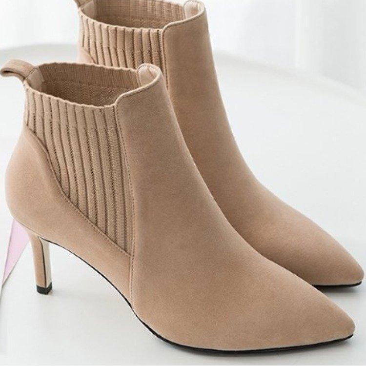 botas cortas de primavera y otoño zapatos finos-fina de alta talones Martin botas de estilo nuevo todo-en-el-uno.