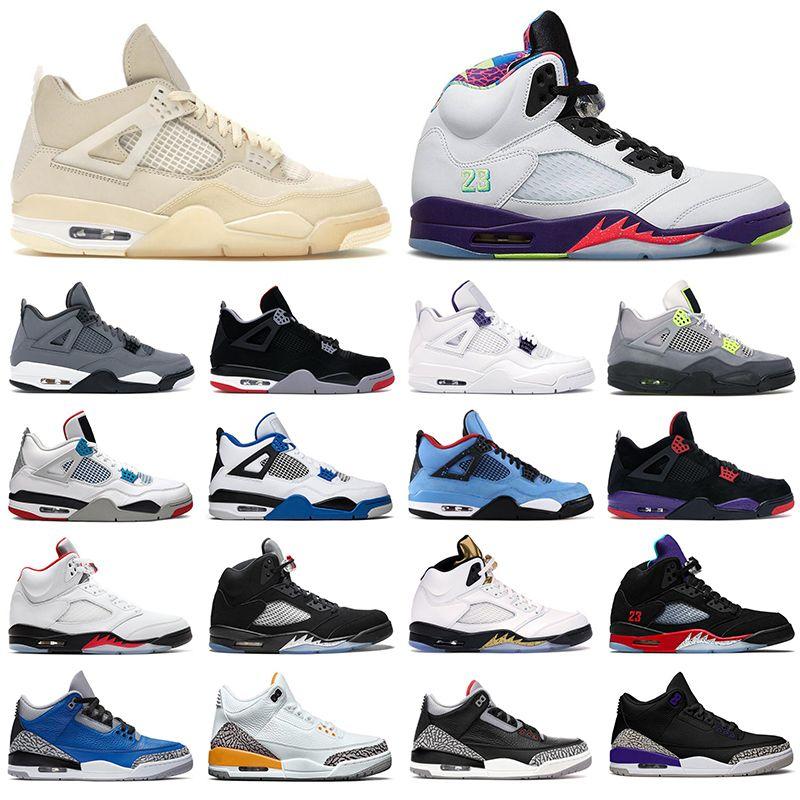 nike air jordan retro 4 5 off white basketball shoes Scarpe da pallacanestro da uomo jumpman 4s Sail Black Cat Bred 5s Alternate Grape Bel 3 3s Varsity Royal sneakers uomo donna
