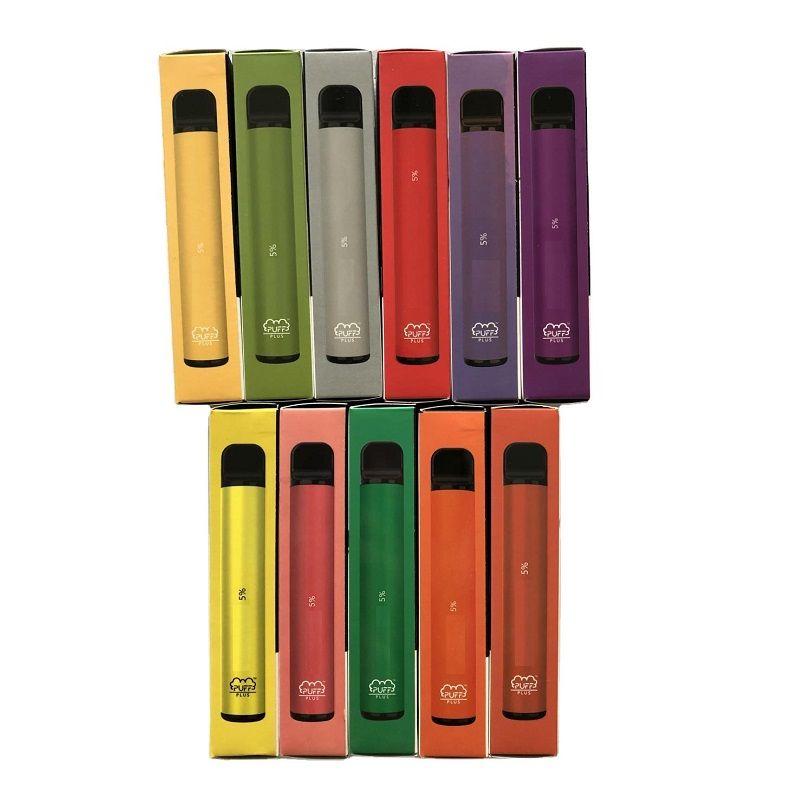 Puff Bar Plus-Einwegvorrichtung 550mAh Akku 800+ Puffs 3,2 ml Pod 7 Farben Keine Wartungsladung oder Nachfüllen