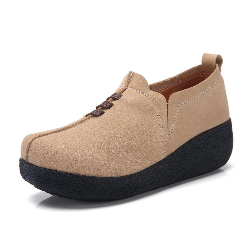 Zapatos de vestir 35-43 Tamaño de gran tamaño MUJER SINGLE STYLE CUERO DE CUERA FUMA DE AUMENTO DE AUMENTO DE FAVILLA DE LOS TEELLOS ALTO