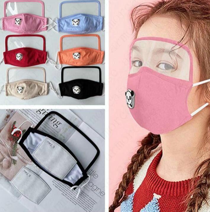 El enchufe de fábrica 2 en 1 protector de cara máscara pantalla de plástico Máscaras completa protección facial mascarillas de aislamiento anti-niebla al aire libre Pro