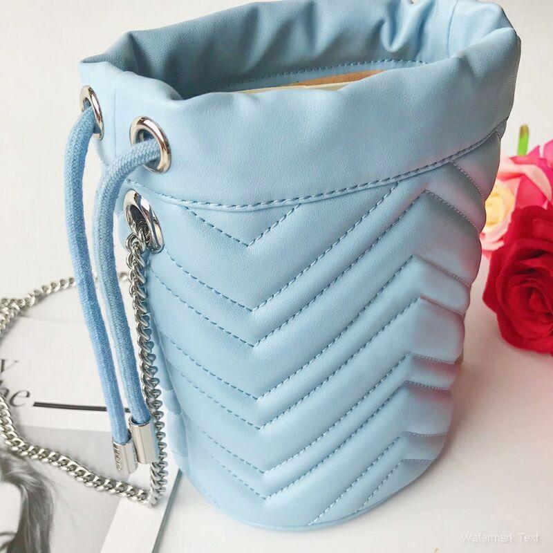 Alta Capacità Sacchetto di Drawstring della benna di stile di modo delle donne del sacchetto del messaggero di colore rosa 4 colori Zaini viaggio Borsa a tracolla Size 19cmX17cmX17cm Tipo5
