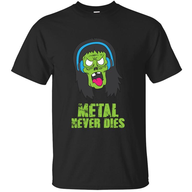 Streetwear Смешной Металл никогда Dies футболки для мужчин 2020 Пользовательские Природные Мужчины тенниска шеи экипажа с коротким рукавом Top Quality