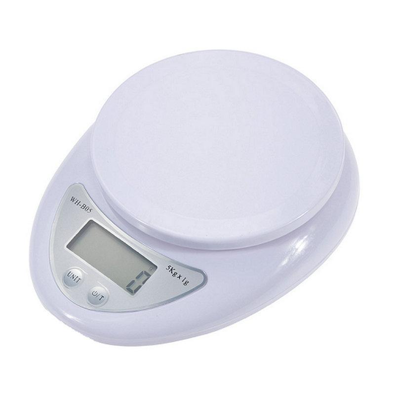 1-5000g Elektroniczna waga wagi Kuchnia Składniki Składniki Wysokiej Precyzyjnej Digital Masa Pomiaru Narzędzie Z Detal Detal Box