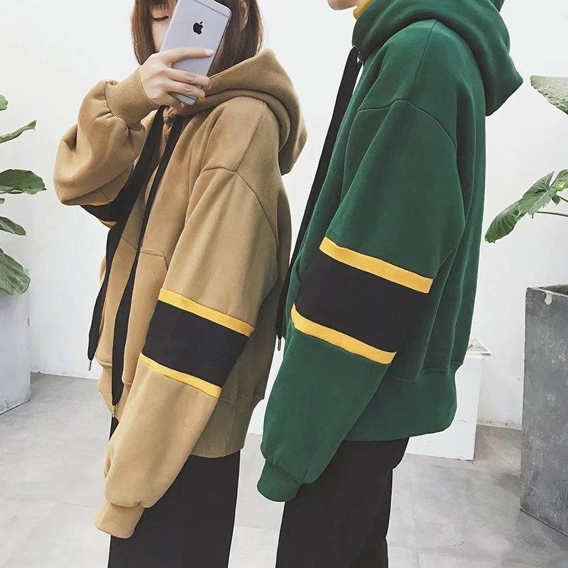2019 autumn and winter new all-match trendy sweater men's fleece thickened pullover hoodie pullover men's couple casual hooded