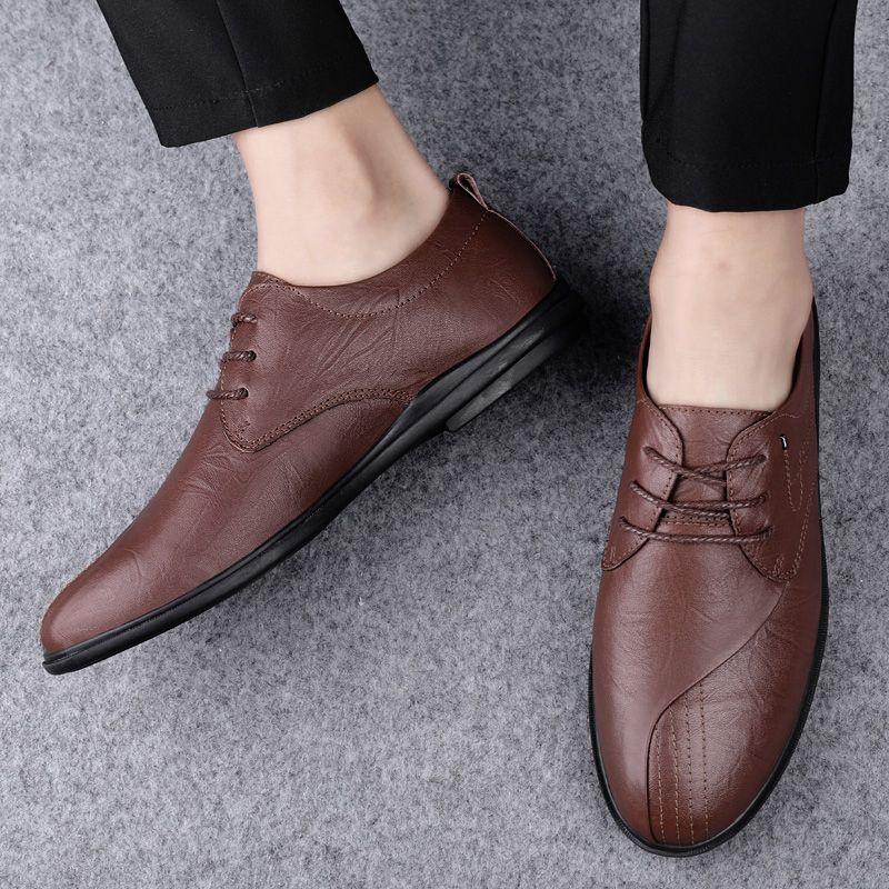 sapatos men leather for leisure casuales sale man de zapatos black Mens cuero informales shoe fashion mens sports spring sapato