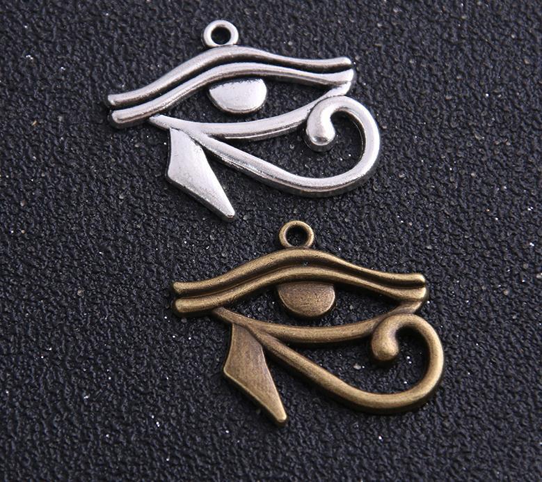 60pcs d'argento antico bronzo Rah Egitto occhio di Horus fascini egiziani i pendenti per il braccialetto della collana di risultati dei monili 27x33mm