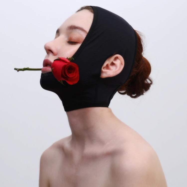Bellezza bellezza dei capelli sonno salone Maschera intaglio sottile maschera viso tirare stretto v volto artefatto rimuovere il doppio mento coperchio testa benda di plastica