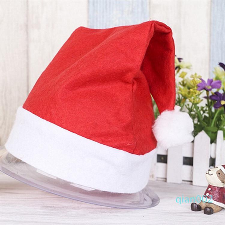 2 Superficie cappelli rossi di Babbo Natale Cappelli Cap festa di Natale per costume di Babbo Natale Decorazioni di Natale per i bambini il cappello di Natale per adulti