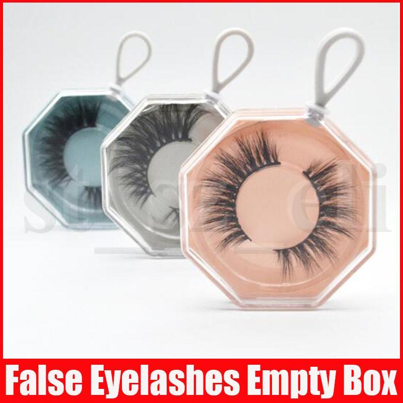 False Eyelash Plastic Packing Irrugular Acrylic Lashes Box Fake Eyelashes Empty Boxes Lash Case with Tray