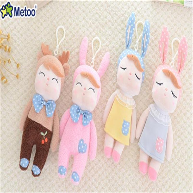 10pcs/lot Genuine Metoo Angela Rabbit Dolls Mini Soft Plush Toy Cute Lovely Stuffed Toys Kids Birthday Christmas Gift KW05-1