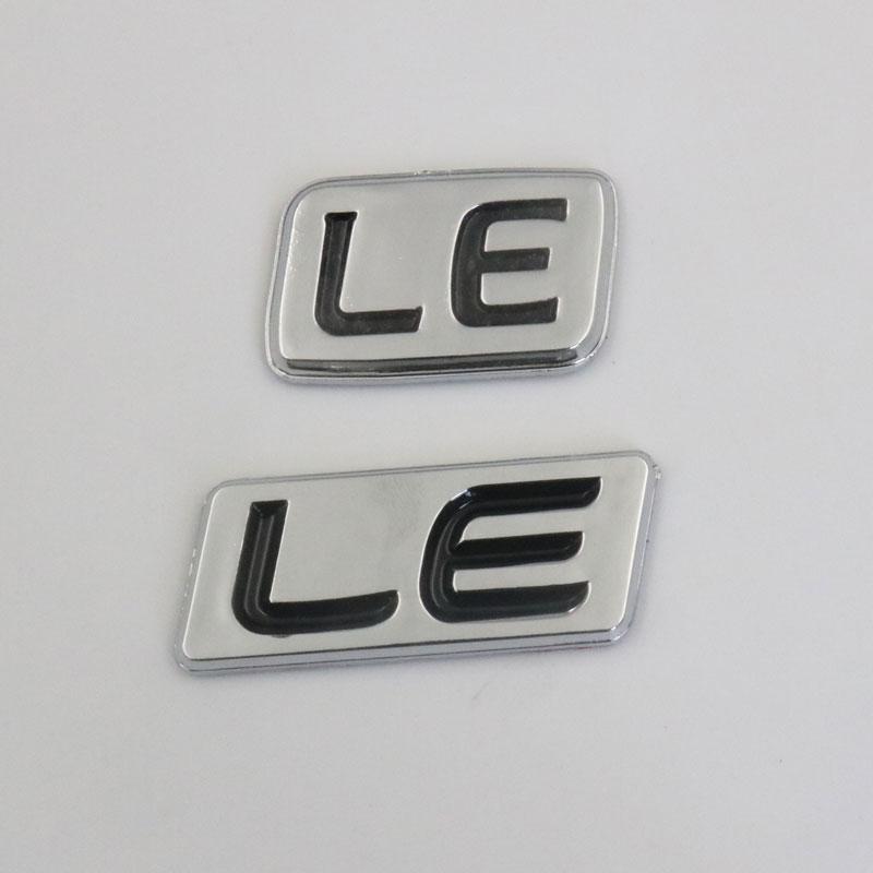 لملصقات شعار تويوتا LE شعار السيارات الخلفي جذع شارة ملصق سيارة