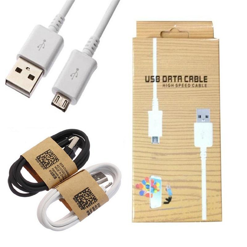 s4 Câble de synchronisation de données Micro USB Charge cordon de câble Câble chargeur de téléphone micro USB pour Samsung Galaxy S3 i9500 S4 S2 HTC avec boîte de détail
