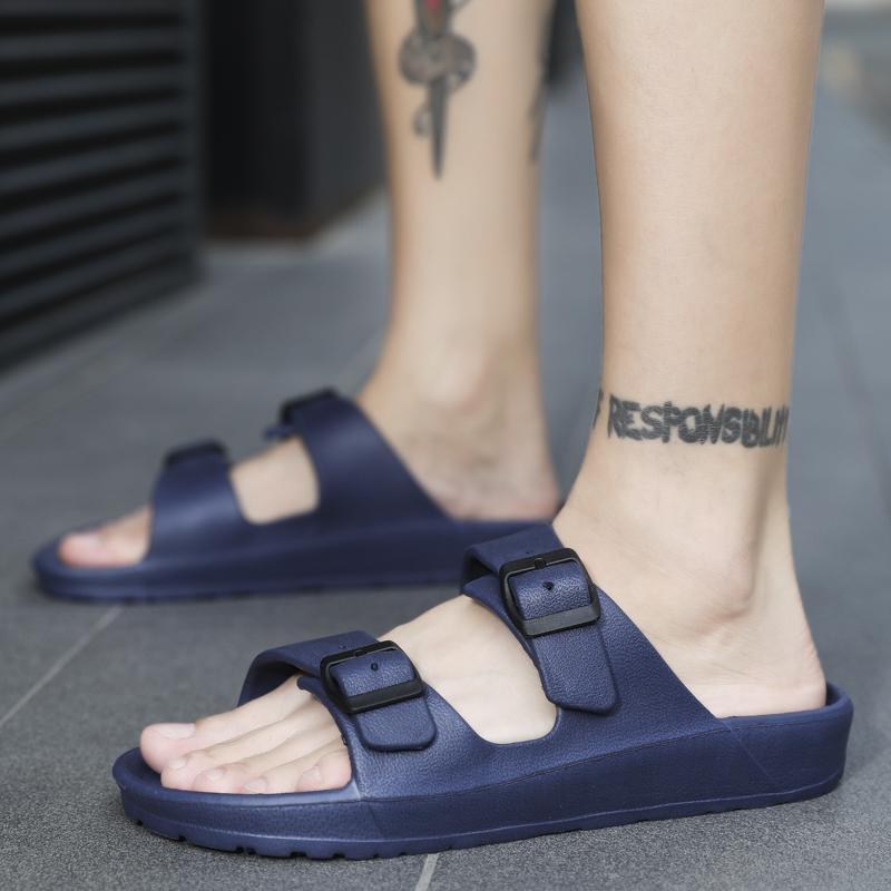 2020 мужские Шлепанцы EVA Массаж Сандалии Повседневная обувь для мужчин двойной пряжкой Летняя мода пляж Вьетнамки для ванной sandalias Mujer