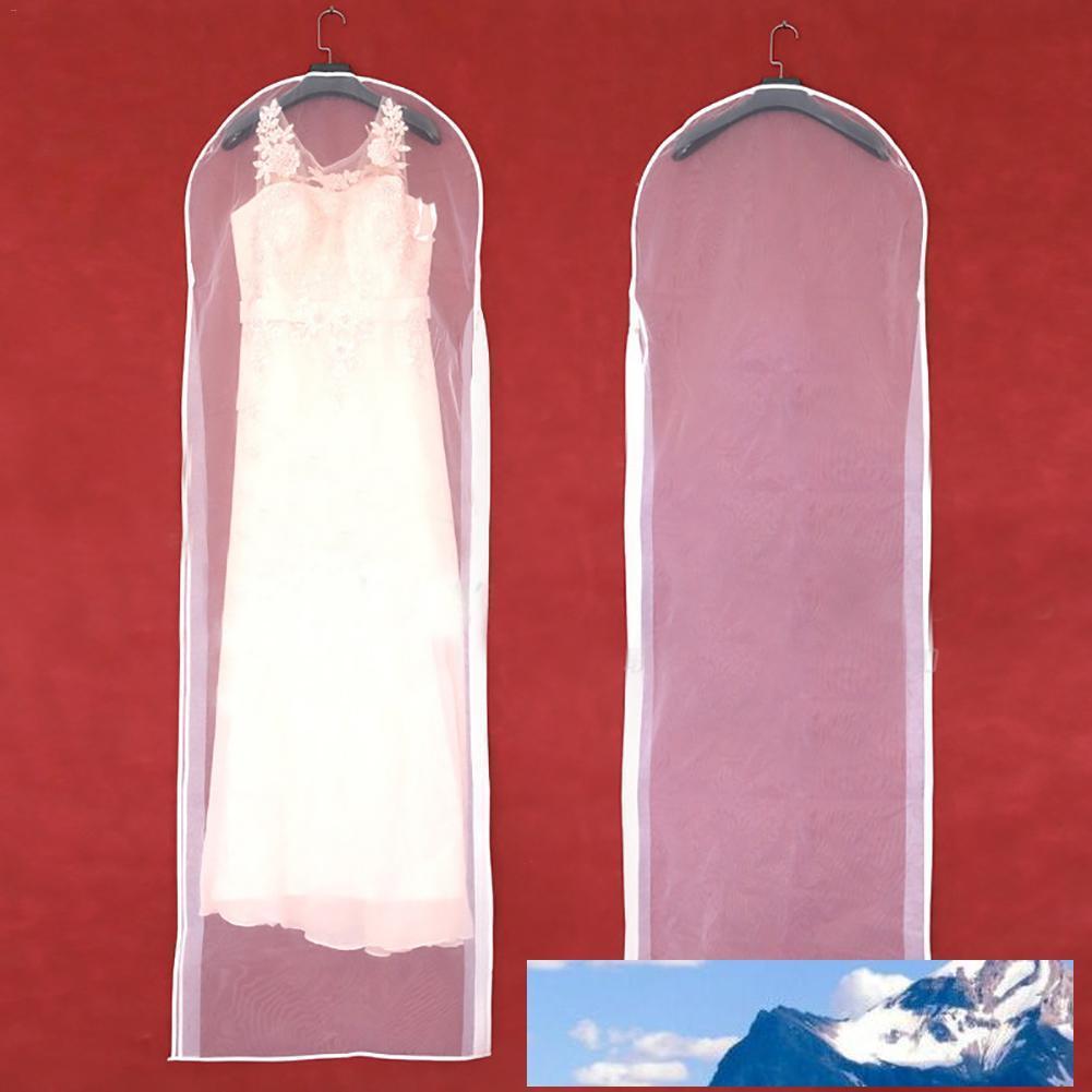 Garment Kleid Abdeckung transparente Hochzeit Braut-Kleid-Kleidung-Klage-Mantel-Staub-Abdeckung mit Reißverschluss Für Privatanwender Garderobe Kleideraufbewahrungstasche