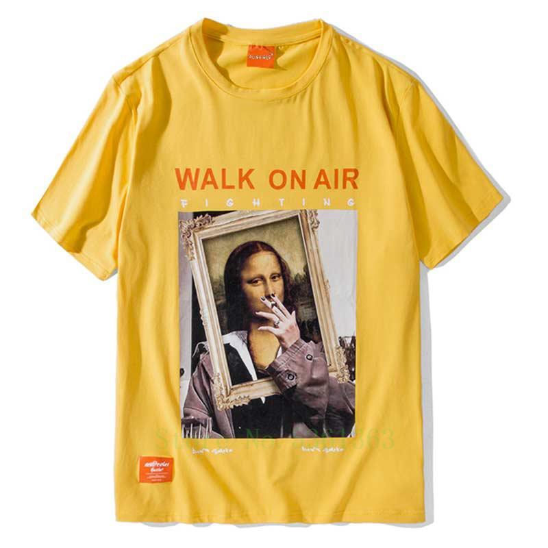 t-shirt hommes drôle peinture Mode T-shirt pour hommes T-shirt imprimé O-cou décontracté High Street T-shirts Couple Streetwear