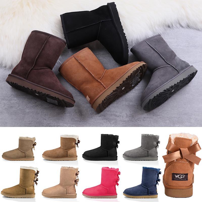 Высочайшее качество дизайнер женские лодыжки ботилью меховые кожаные снежные зимние ботинки хаки песок розовый черный коричневый серый платформенный пинетки девушки ботинок