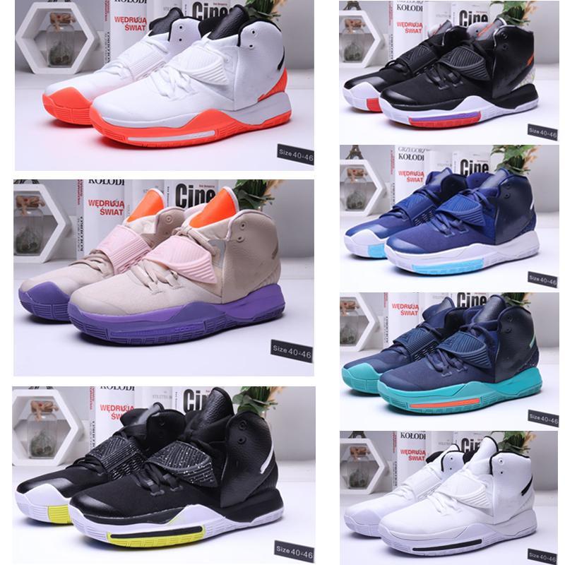 mágicos homens negros explosivos 6s tênis de basquete alta tornozelo esportes ao ar livre sneakers treinamento de 40 a 46 tamanhos