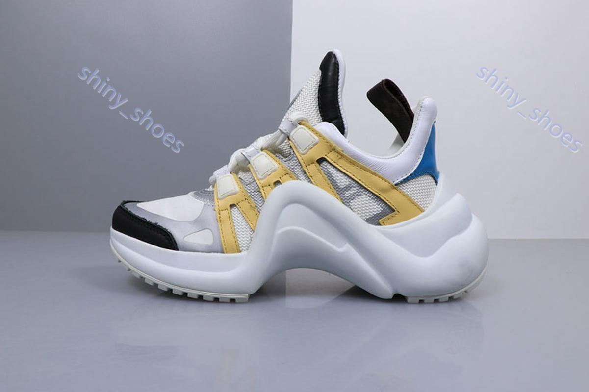 Louis Vuitton sports shoes alta qualità 2020 nuovo Archlight Luxe donne Mens scarpe delle scarpe di cuoio genuino pattini correnti di sport Runner 7 colori delle scarpe da tennis