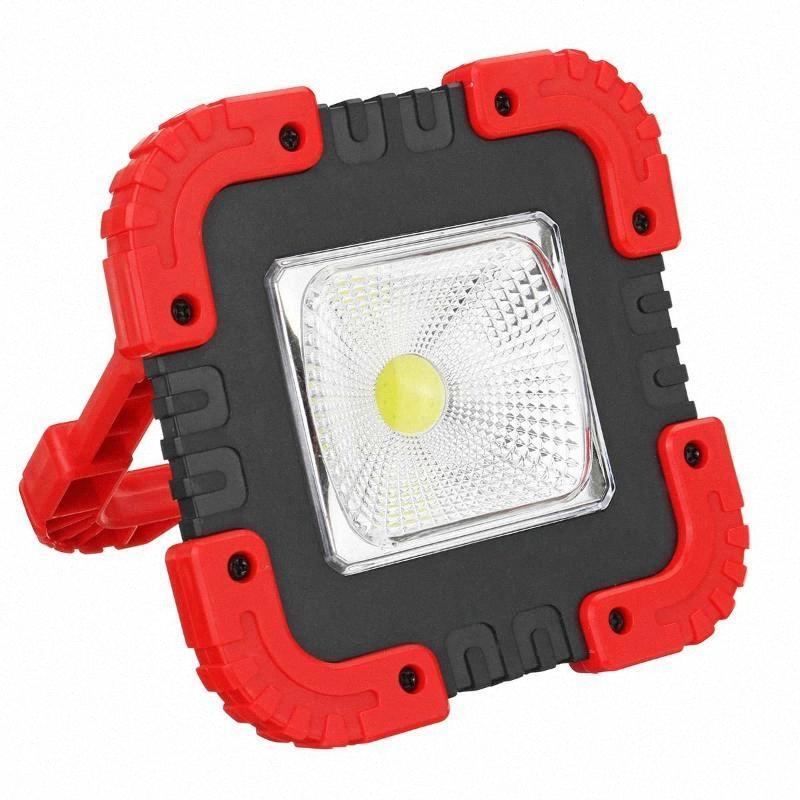 100W COB перезаряжаемый Кемпинг свет работы Портативный ручной фонарик USB панели солнечных батарей аварийного Наводнение лампы DLeP #