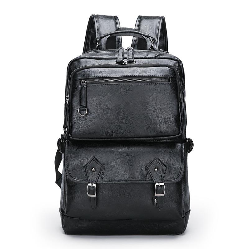 الذكور حقيبة جلدية حقيبة الأعمال حقيبة سفر حقيبة الظهر سعة كبيرة حقيبة كمبيوتر محمول كبير السفر bagmale حقيبة الظهر رجل جلد ب