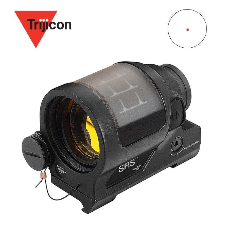 Тактические Охота Reflex Sight Solar Power System Trijicon SRS 1X38 Red Dot Sight Scope с QD Mount Optics прицел