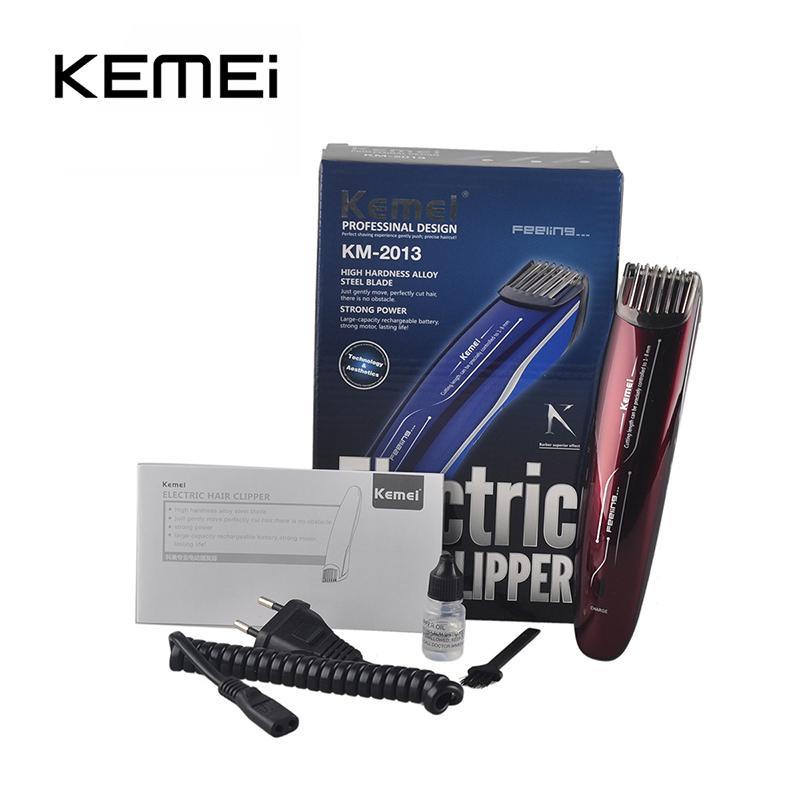 KM-2013 barba de corte de cabelo aparador de maquina de Cortar o Cabelo Kemei trimmer micro barba bwkf QyBVk